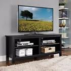 TV Stand Black Entertainment Center Classic Wood Living Room