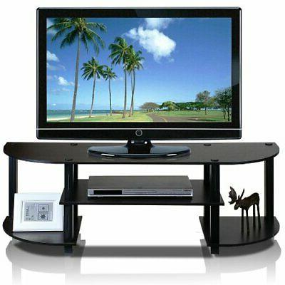 Furinno 11058EX/BK Turn-S-Tube Wide TV Entertainment Center,