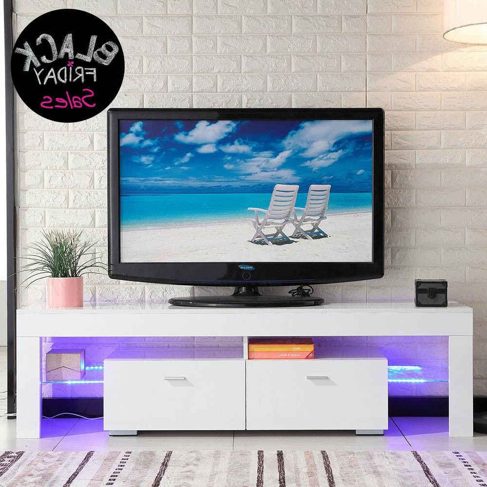 tv stand high gloss white cabinet console