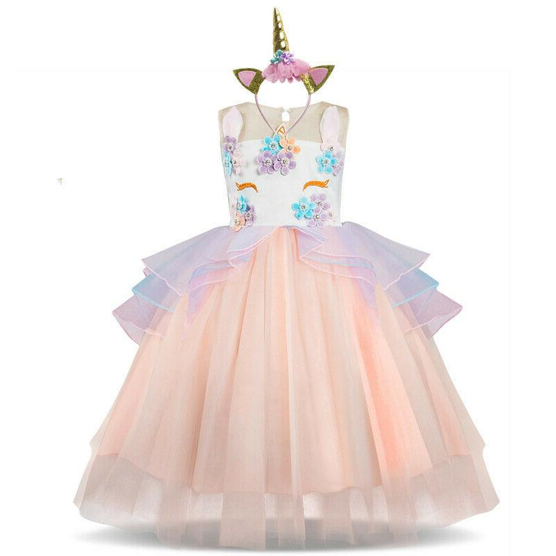 Unicorn For Wear Girl Gown