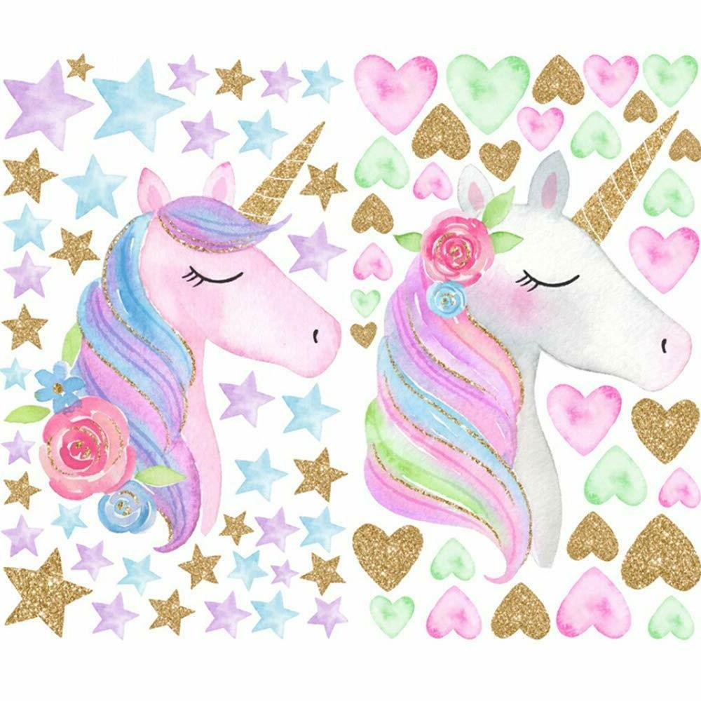 Unicorn Wall Stickers Decals for Kids Gifts