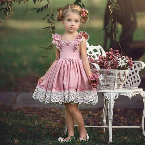US Canis Baby Girls Party Dress Clothes