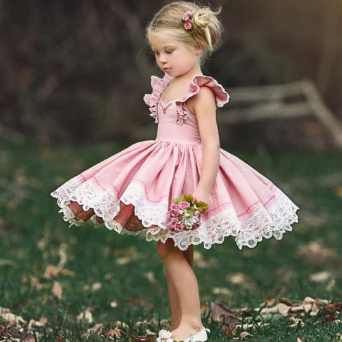 US Baby Party Tutu Dress Outfits Clothes