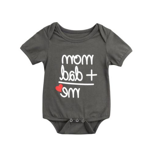 US STOCK Clothes Boy Bodysuit Funny Cute Outfits