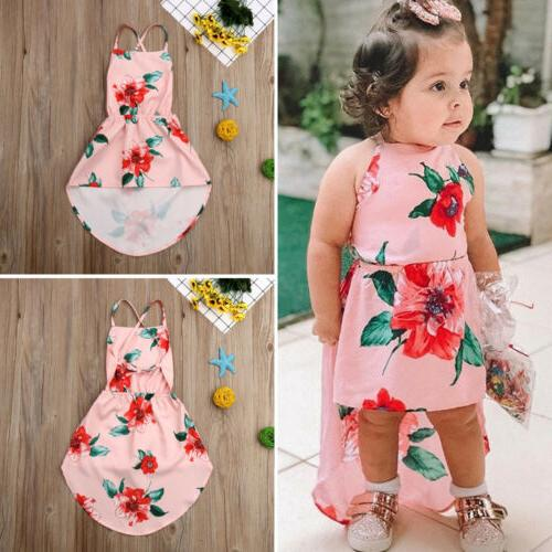 US Summer Kids Baby Girls Flower