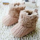 USA Baby Kids Girls Winter Warm Fleece Knit Snow Boots Booti