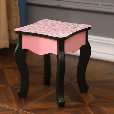 Vanity Table Dressing Table Kids Stool Mirror with