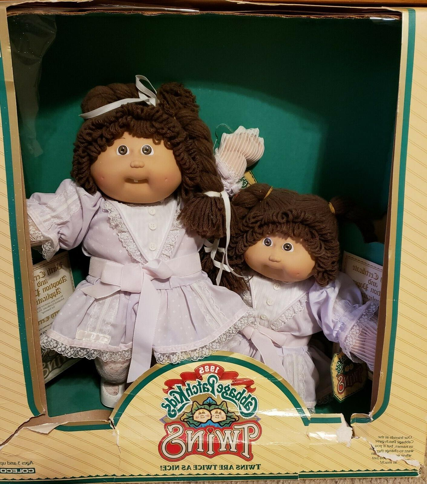 vintage 1985 twin girls complete original outfits