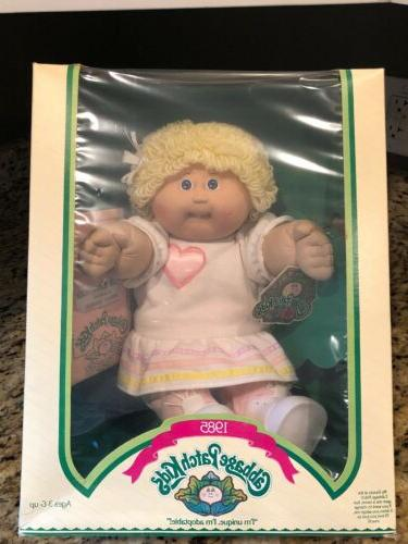 Vintage 1985 Cabbage Patch Idelle With Tooth Girl In