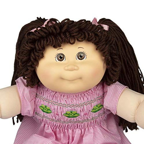 """Cabbage Retro Style Yarn Doll Hair/Brown Eyes, 16"""" Amazon - to Packaging"""