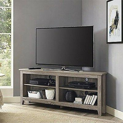 We Furniture Wood Media Storage Console-Driftwood