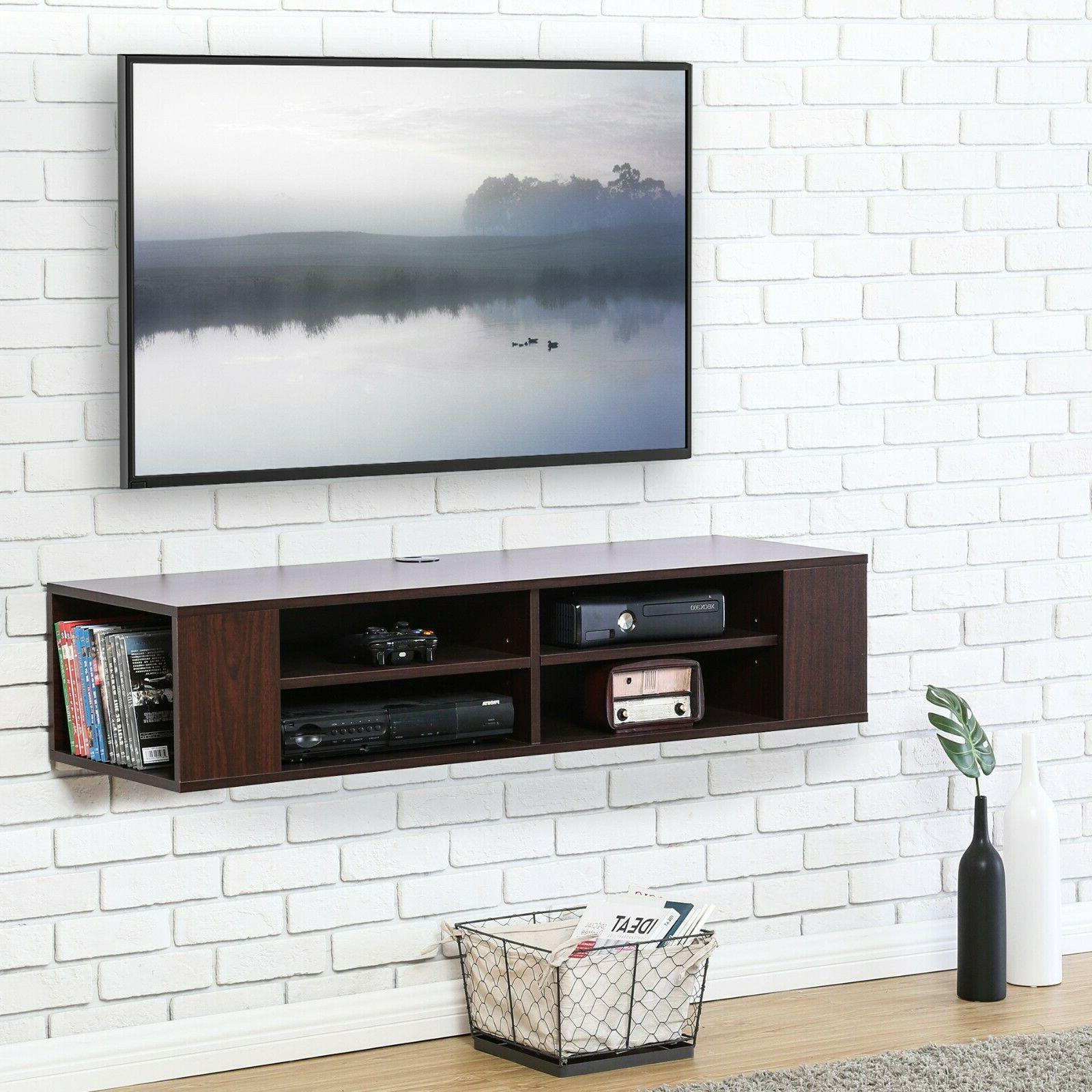 FITUEYES Wall Mounted Console,Floating Shelf,Black