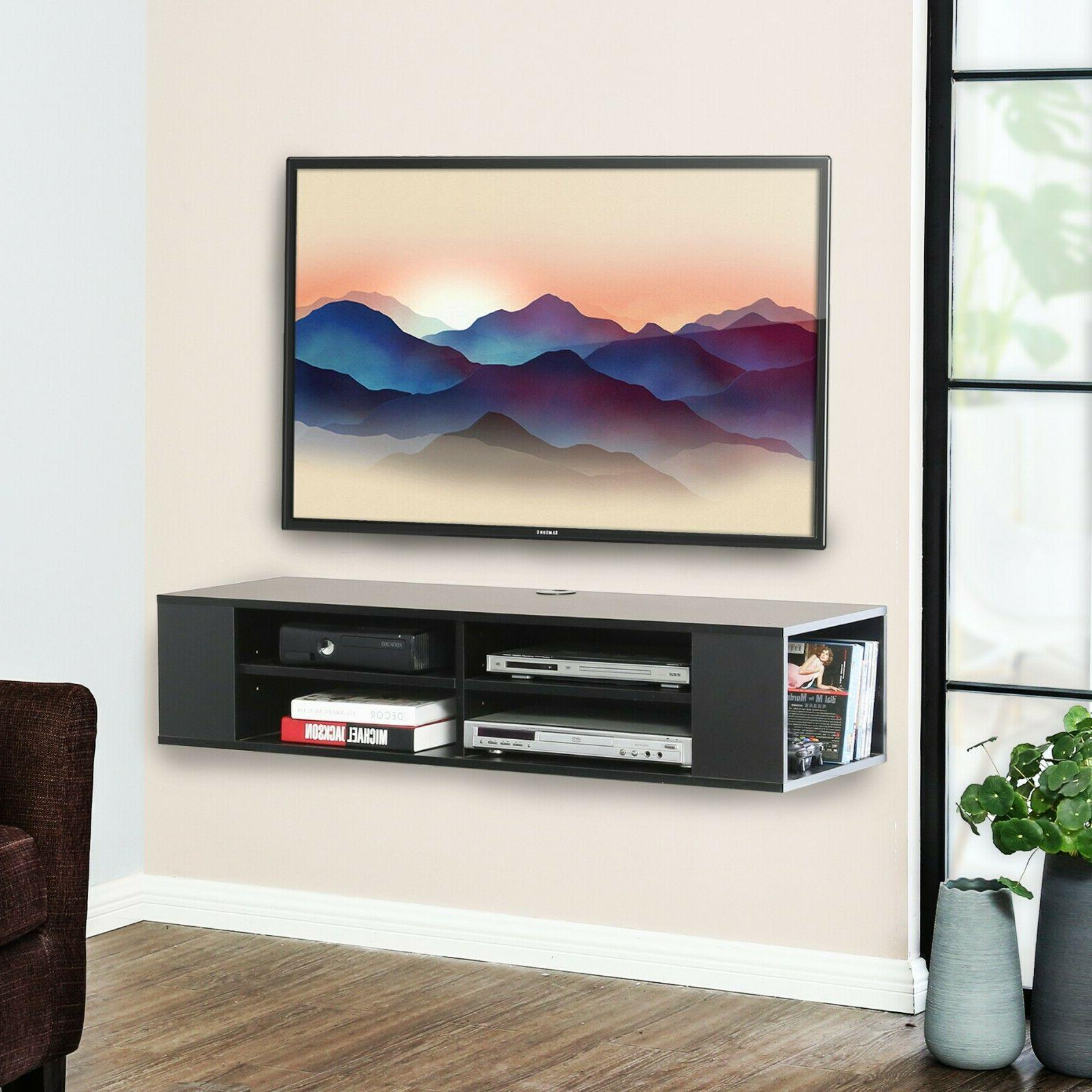 wall mounted media console floating tv stand