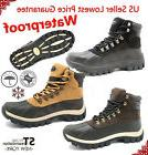 Winter Snow Boots Mens Work Boots Waterproof Leather Upper R