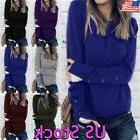 Womens Casual Winter Sweater Sweatershirt Ladies Pullover Th