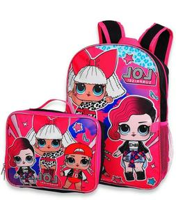 L.O.L. Surprise lol Girls Cute School Book bag Backpack Lunc