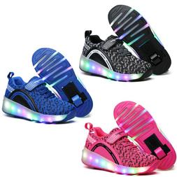 LED Shoes Sneakers for Kids Girls Boys Light Up Roller Skate