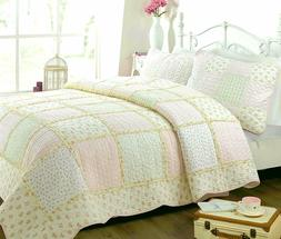 Cozy Line Home Fashions Sweet Peach Floral Light Pink/Yellow