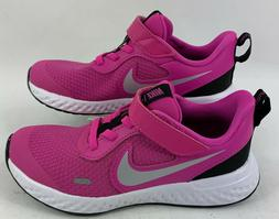 Nike Little Kids Girls Revolution 5 Running Sneakers Fuchsia