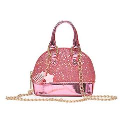 Dukars Little Girls' Sequins Handbags Princess Crossbody Bag