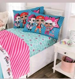 LOL Surprise! Bedding Twin Size 3 Pcs Sheet Set Kid Girl Pin