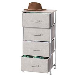 mdesign fabric 4 drawer storage
