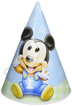 Mickey Mouse 1st Birthday Party Hats 8 Ct.