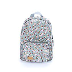 Peppercorn Kids Girls Mini Backpack-Vintage Floral-Blue, Flo