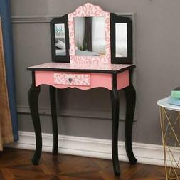 mini kids girls vanity table set