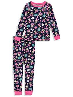 Disney Minnie Mouse Little Girls' Toddler 2-Piece Thermal Lo