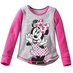Disney Minnie Mouse Thermal Tee for Girls Size 4 Gray