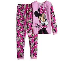 Disney Minnie Mouse Girls Thermal Underwear Pajamas Set