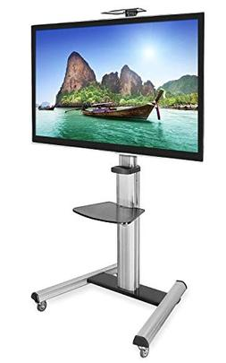Mount-It! Mobile TV Stand for Flat Screen Televisions, Heigh