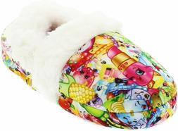 Shopkins Moccasin Slippers Kids Girls with Faux Fur Lining