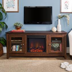 New 58 Inch Wide Television Stand with Fireplace - Tradition