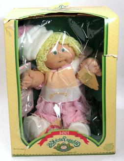 New Box Vintage Cabbage Patch Kids Blonde Hair Green Eyes On