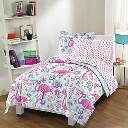 NEW Flamingo Pink Twin Full Girls Bedding Set Kids Teen Comf