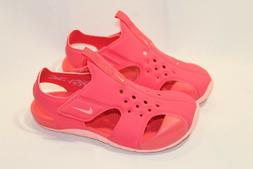 New Girls/Kids Nike Sunray Protect pink coral athletic sanda