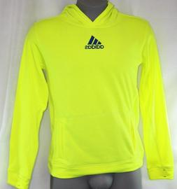 Girls Kids Youth Adidas Electric Volt Yellow Pullover Hoodie