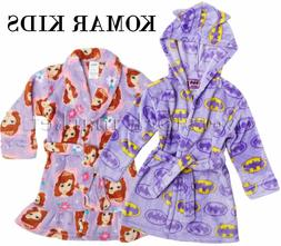 NEW GIRLS KOMAR KIDS VELVET FLEECE FLAME RESISTANT ROBE VARI