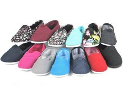 New Kids Boys Girls Simple Canvas Slip-On Shoes Flats Loafer