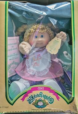 "NIB*1985 VINTAGE CABBAGE PATCH KIDS *BLUE EYES, 1ST TOOTH"" L"