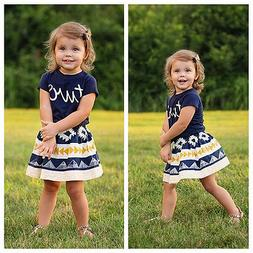 Novelty Toddler Kids Baby Girl Shirt Tops+Tutu Skirt Summer