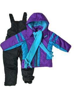 NWT Snowsuits for Kids Girl's 3-piece Fleece Lined Set 5/6 6
