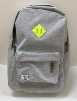 NWT Herschel Supply Co. Heritage Light Grey / Lime Backpack