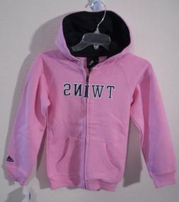 NWT Adidas Minnesota Twins Girls Kids Full-Zip Logo Hoodie P