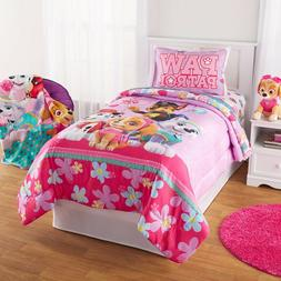 Paw Patrol Puppy Girls Nick Jr. Twin Comforter & Sheets