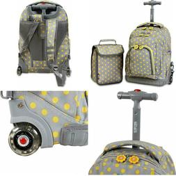 Premium Kids School Rolling Backpack With Wheels And Lunch B