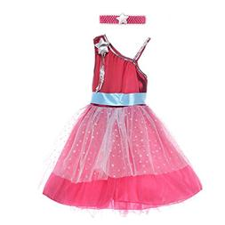 HBB Kids Girl's Princess Dress Up Dance Tutu Costume With He