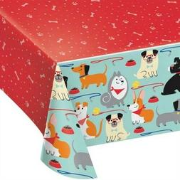 Puppy Dog Plastic Party Tablecover Dog Lover Birthday Party